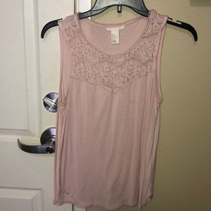 Lacy work tank top